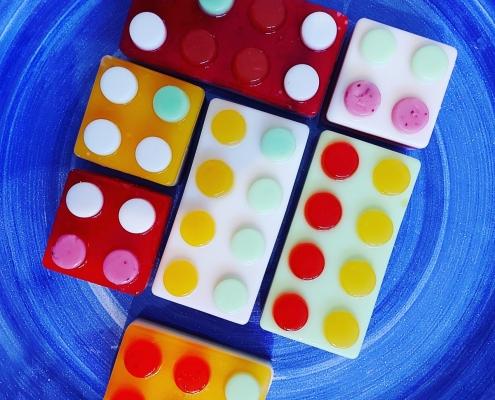 confetti tortas LEGO